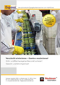 ESPASO Sec. brochure - Sorting asparagus and selective cutting